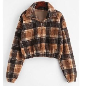 Zaful plaid fleece